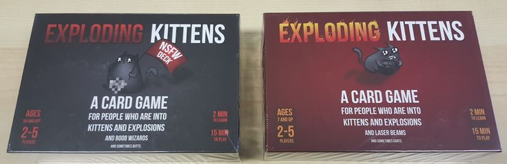 Exploding Kittens in the store Card games, Exploding