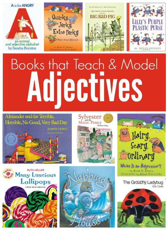These books can be very helpful because they teach and model adjectives that are in the sentences of the book. When the student read the book that will get a chance to know what a adjective look like  or what type of word it is.
