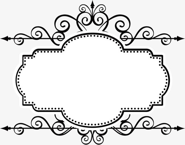 Ancient Frame Material Border Vector Vector Ancient Box Frame