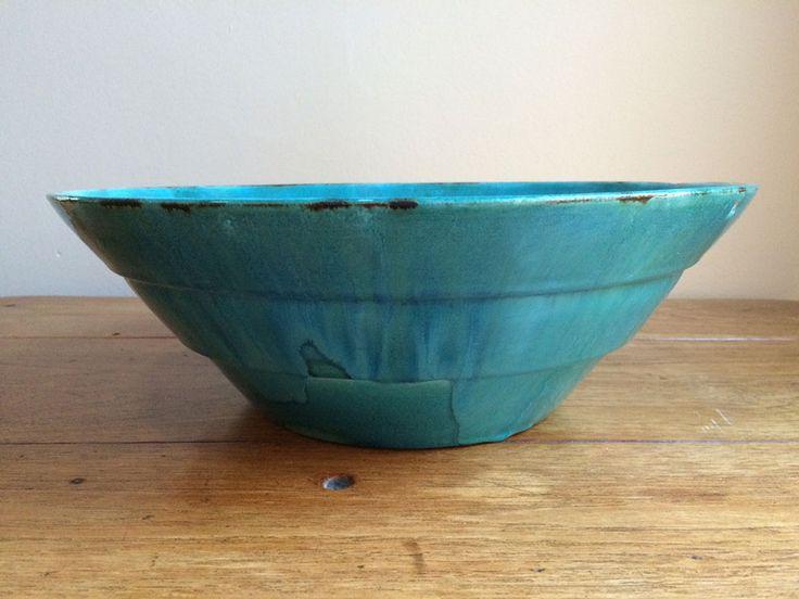 Ceramic Studio, A Blue-Green Bowl (diam: 38cm)