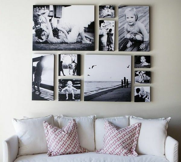 Fotos Leinwand selber machen sofa