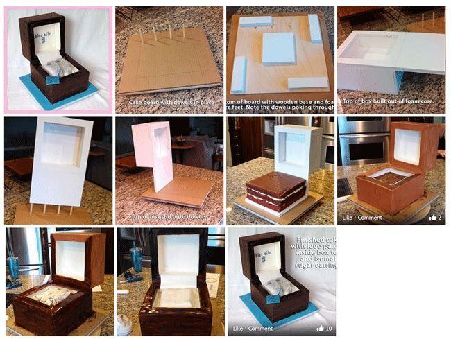 jewelry box cake tutorial