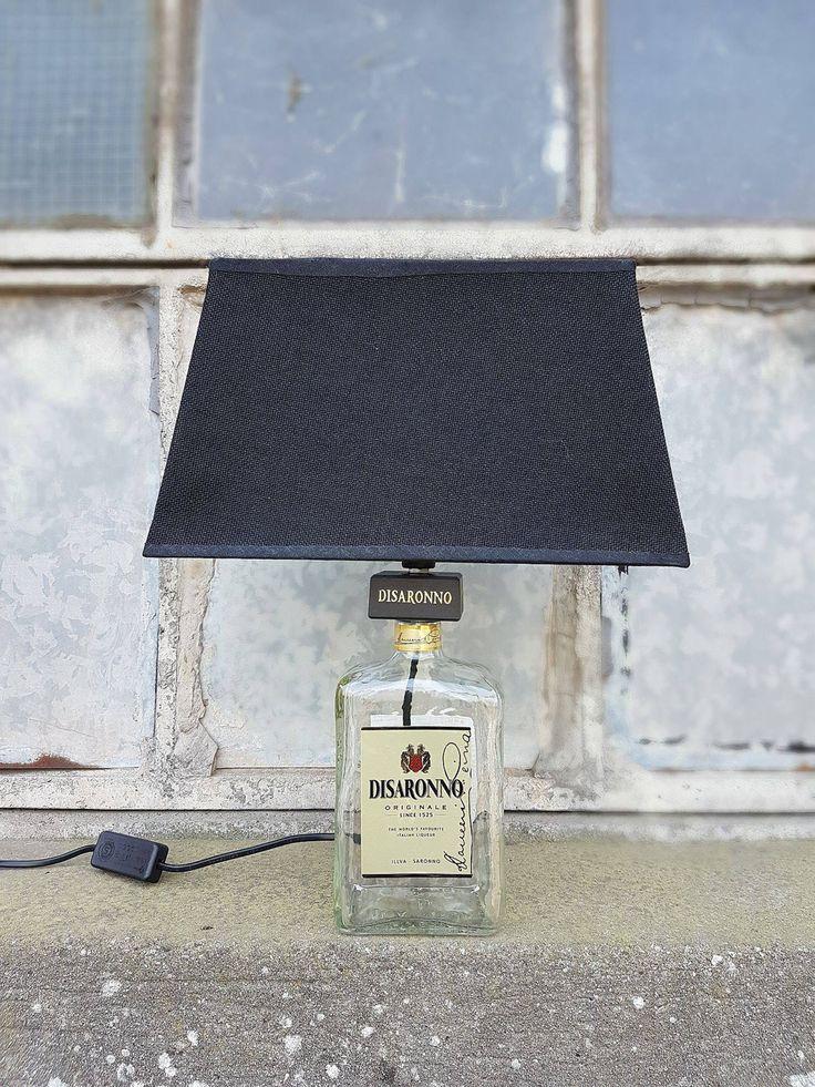Lampada bottiglia amaretto Disaronno - bottle lamp - flasche lampe di elfolamps su Etsy