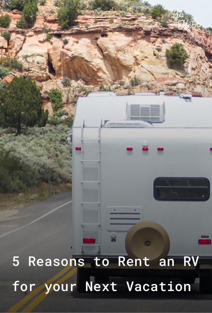5 Reasons to Rent an RV for your Next Vacation.  Renting an RV has many benefits and just like a hotel, they come in a variety of styles, prices and amenities. With so many choices out on the market, try a few different models until you find the recreation vehicle that not only fits your lifestyle and needs.