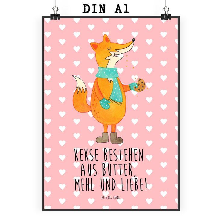 Poster DIN A1 Fuchs Keks aus Papier 160 Gramm  weiß - Das Original von Mr. & Mrs. Panda.  Jedes wunderschöne Motiv auf unseren Postern aus dem Hause Mr. & Mrs. Panda wird mit viel Liebe von Mrs. Panda handgezeichnet und entworfen.  Unsere Poster werden mit sehr hochwertigen Tinten gedruckt und sind 40 Jahre UV-Lichtbeständig und auch für Kinderzimmer absolut unbedenklich. Dein Poster wird sicher verpackt per Post geliefert.    Über unser Motiv Fuchs Keks  Die Fox-Edition ist eine besonders…