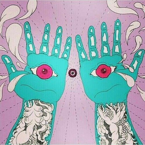 hands, psychedelic, and art image