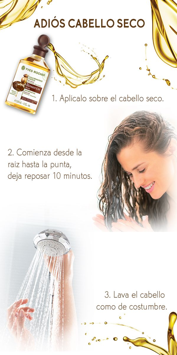 Después de utilizar muchas veces secadora y plancha tu cabello necesita estar hermoso e hidratado, nútrelo con el Aceite Reparación Capilar. Sigue este paso a paso y obtén la nutrición que tu cabello necesita.