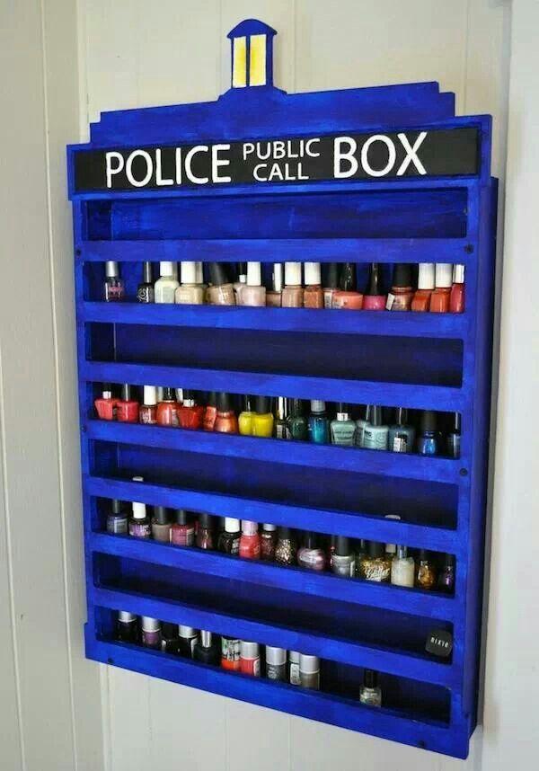 TARDIS nail polish organizer
