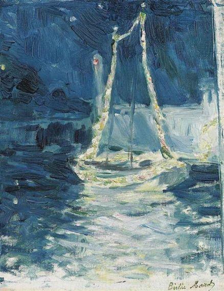 Berthe Morisot - Bateau illuminé (1889)