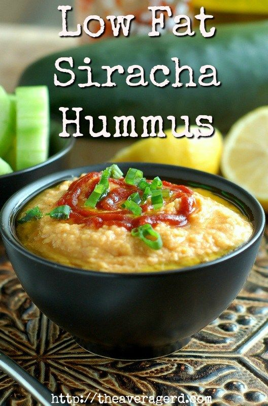 Add some spice to the traditional bean dip with this Low Fat Sriracha Hummus @jodidanen