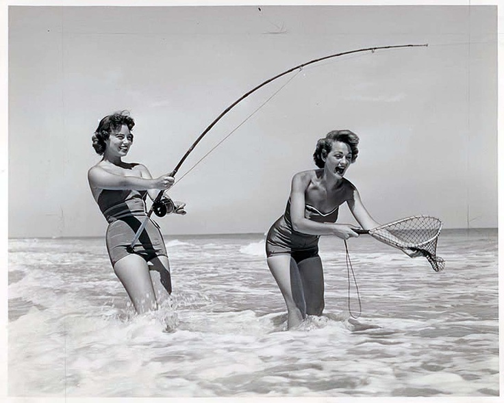 Fishing in the Surf    JHC Shirley get the bugger in the net!!