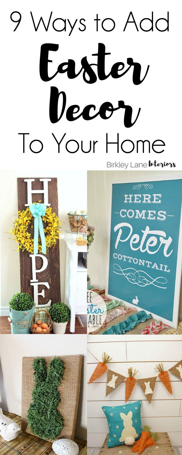 Religious easter yard decorations - 9 Ways To Add Easter Decor To Your Home