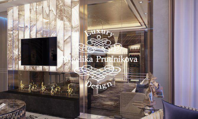 Дизайн проект интерьера квартиры в стиле Ар Деко в ЖК Симфония Набережных. Фото 2017
