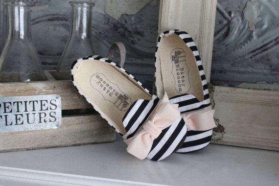 Baby Girl ShoesToddler Girl Shoes Soft Soled Shoes by BitsyBlossom