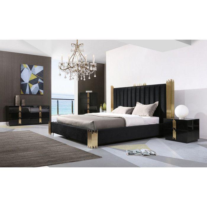Modern Black And Gold Bedroom Furniture