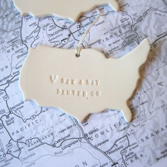 Personalized Map Ornament