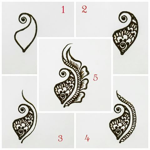 Image result for mehndi step by step tutorial
