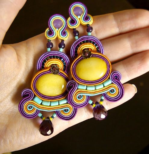 Delhi Queen soutache earrings