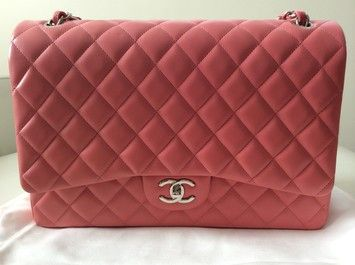 Chanel Dark Classic Maxi Lambskin Handbag Silver Hardware Brand New With Tag Shoulder Bag $6,850