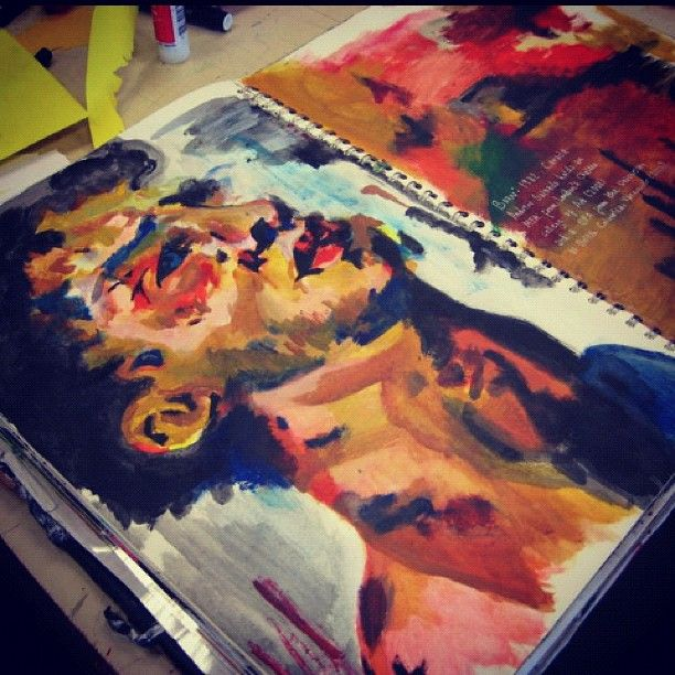 *sketchbook; artist study; painting; portrait* msdurkinart.blogspot.co.uk