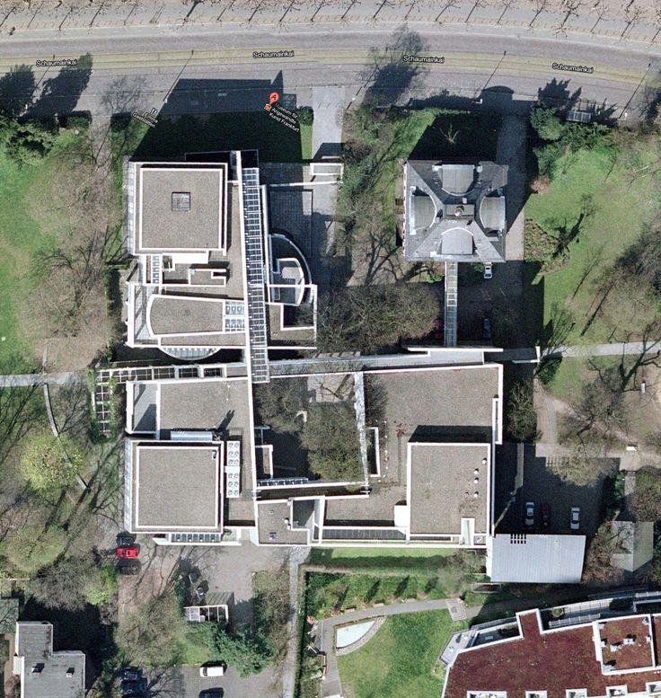 Richard Meier Frankfurt Museum aerial view