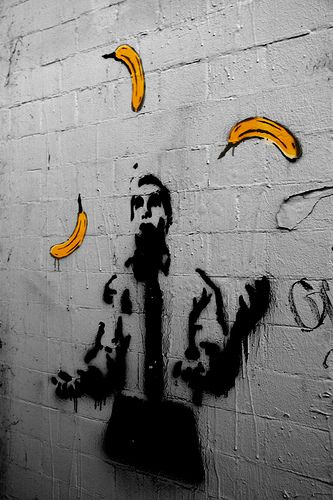 Graffiti art of man in subway- coloursplash
