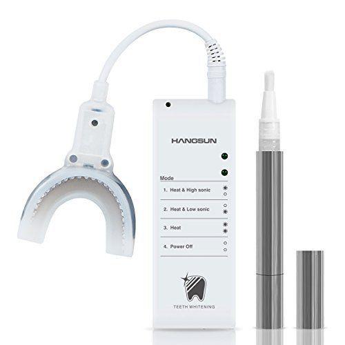 Hangsun Sonique Blanchiment Des Dents Kits De Gel HM20 Blanchisseur De Dents Avec Chauffage Et Fonction De Massage Professionnel À Domicile…