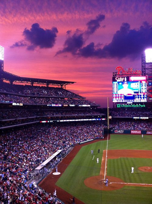 beautiful night for a ball game - at Citizens Bank Park, home of the Philadelphia Phillies.