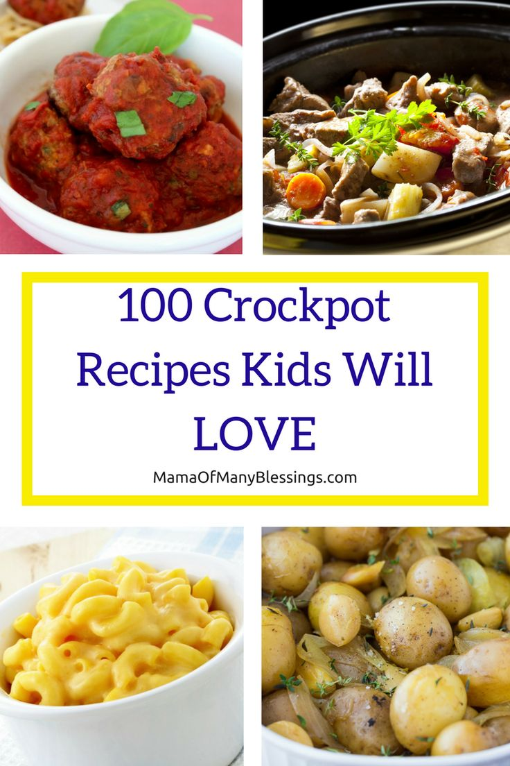Our big family LOVES Crockpot meals they are super easy to make and the recipes are endless. Here is our list of 100 crock pot recipes your kids will LOVE!! You're sure to find the perfect recipe for those busy nights.