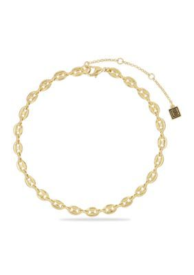 Laundry By Shelli Segal Women Status Link Choker Necklace - Gold - 12 In.