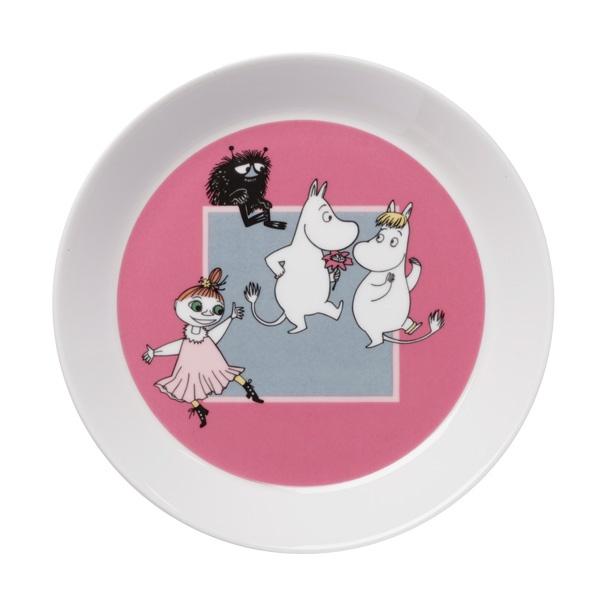 Moomin plate Moomin dance, pink finnish design studio