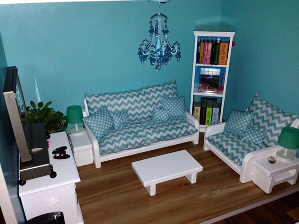 Beautiful American Girl Dollhouse Living Room. Follow My Dolls House Ideas On  Pinterest For More Inspiration Part 25