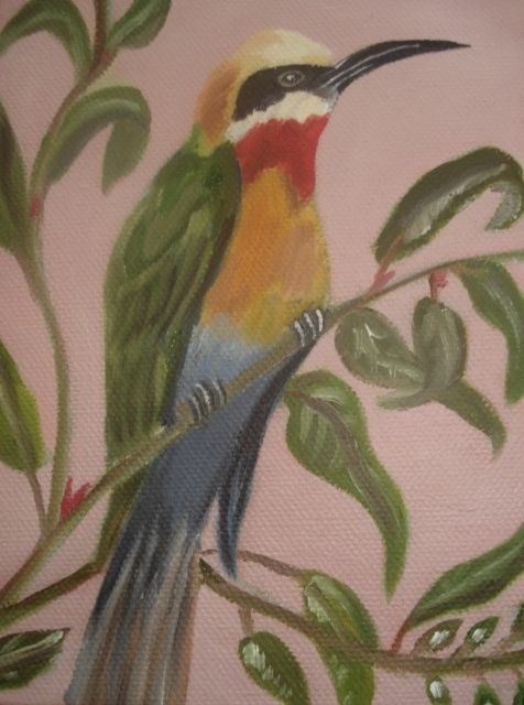 Oil Painting - Bee Eater painted by Bernadette Gie