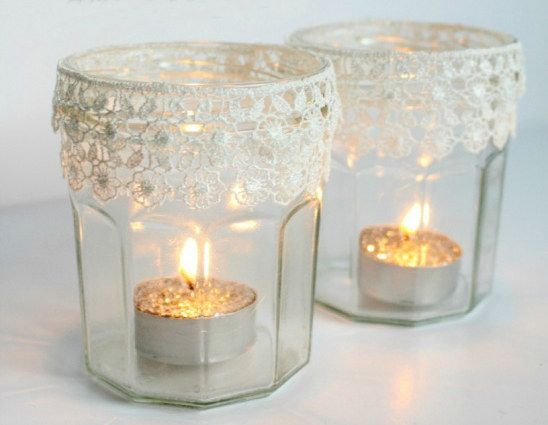 Lacy Votive Holders | 27 DIY Ways To Make Your Home So Much More Cozy