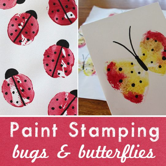 Paint Stamping Bugs and Butterflies