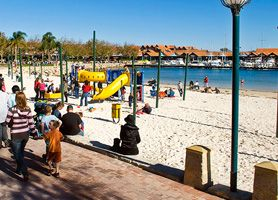 Fun for all at Hillary's Boat Harbour, Perth, WA