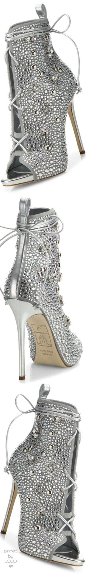 Giuseppe Zanotti for Jennifer Lopez Lynda Crystal Open-Toe 120mm Bootie