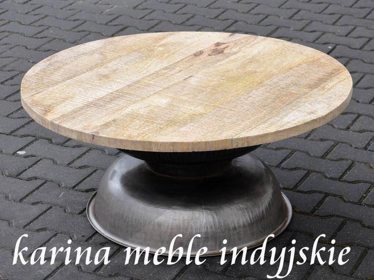 "meble kolonialne - okrągły stolik ""Merlot Loft""  http://karinameble.pl/pl/p/okragly-stolik-Merlot-loft/2741"