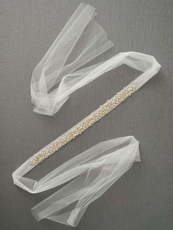 Marco de cristal de novia Correa de vestido de por DavieandChiyo