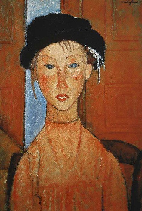 Modigliani  Jeune fille au béret  1918