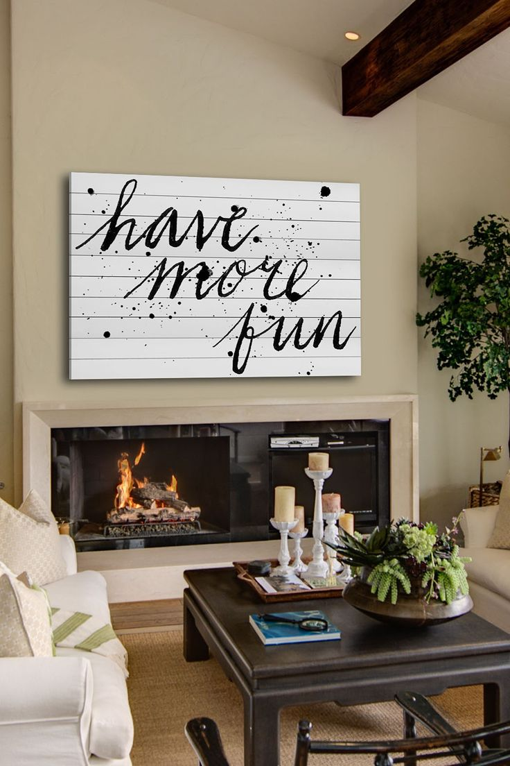 Have More Fun White Wood Wall Art by Marmont Hill Inc. on @HauteLook