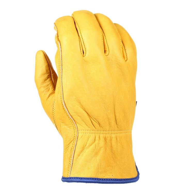 Men's HydraHyde, Leather Work Gloves with Grain Cowhide, Extra-Large, Yellow