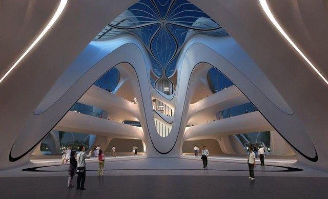 Changsha Meixihu Culture and Art Centre by Zaha Hadid Architects