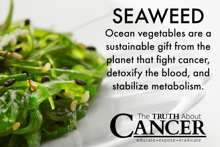 What makes seaweed an anti-cancer food? Click on the image to find out how certain types of edible seaweed have shown to destroy cancer cells and 5 ways to eat it.