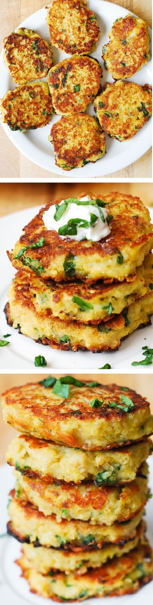 Spaghetti Squash, Quinoa and Parmesan Fritters – delicious, healthy snack #HealthyRecipes