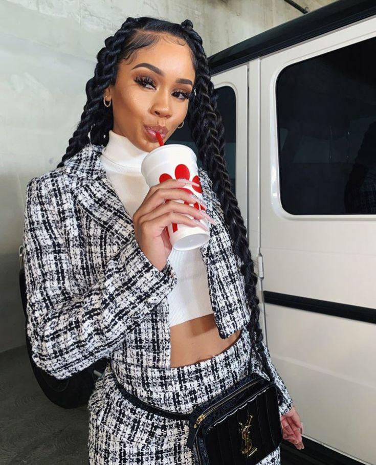 Marley Twists Ig Saweetie Black Girl Fashion Cute