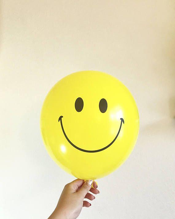 Smily Face Balloon Party Decorations - Emoji Balloons Set of 5 - Bachelorette Party Decorations -  Bachelorette Balloons