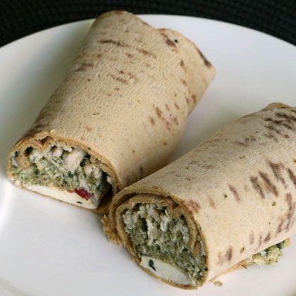 Leftover Chicken Pesto Wraps Recipe