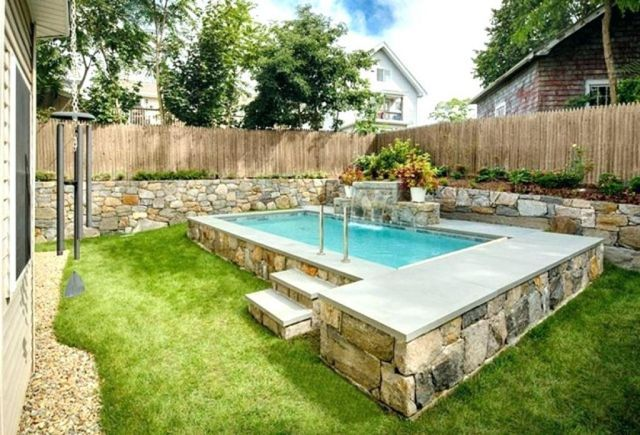 35 Gorgeous Small Backyard Pool Design For Great Pleasure Inspiration Home Diy Ideas Small Pool Design Small Backyard Pools Swimming Pools Backyard