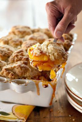 Peach and Cinnamon Cobbler, making this tonight and will tell if it is as good as she says. LaterYES it is absolutely the best apple anything I have put into my mouth.